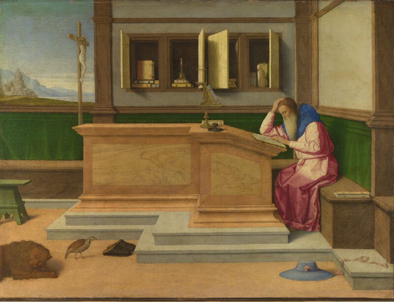 St Jerome by Vicenzo Catena, c. 1510, National Gallery
